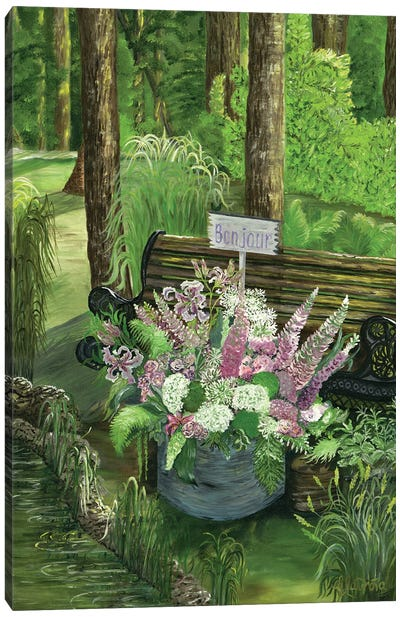 Bonjour Calm Morning Canvas Art Print