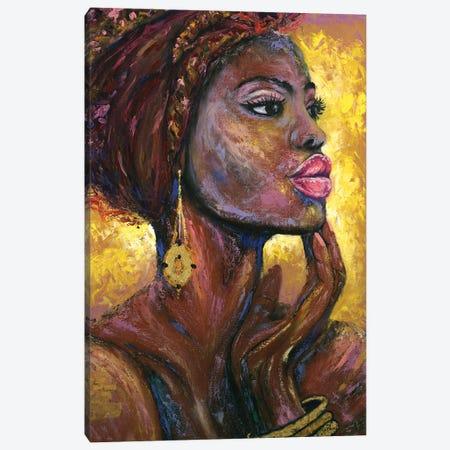 Fire Flame Canvas Print #LRV14} by Larisa Lavrova Canvas Wall Art