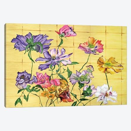 Golden Clematis Canvas Print #LRV18} by Larisa Lavrova Canvas Art Print