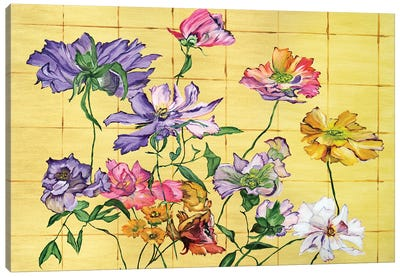 Golden Clematis Canvas Art Print