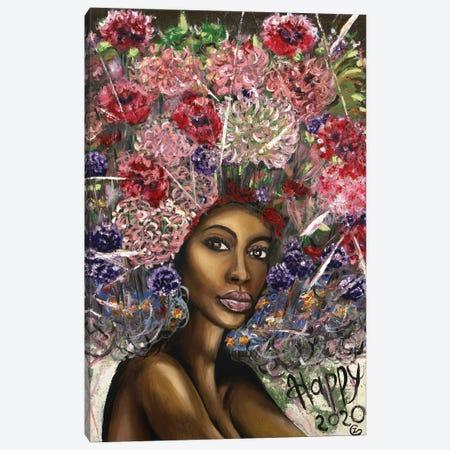 Happy Colorful Wave Canvas Print #LRV19} by Larisa Lavrova Canvas Art Print