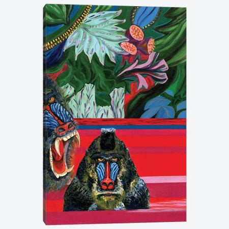 Apes In The River I Canvas Print #LRV1} by Larisa Lavrova Canvas Artwork