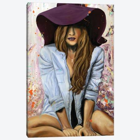 Lucky Purple Hat Canvas Print #LRV22} by Larisa Lavrova Canvas Wall Art