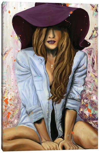 Lucky Purple Hat Canvas Art Print