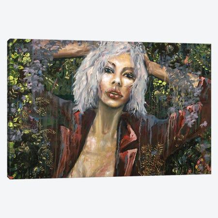 Moonlight Canvas Print #LRV23} by Larisa Lavrova Canvas Art