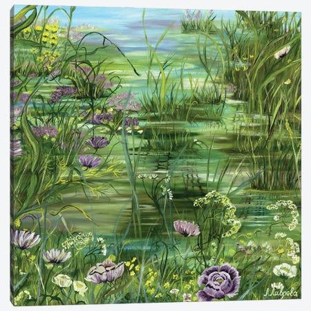 Pond Canvas Print #LRV27} by Larisa Lavrova Art Print
