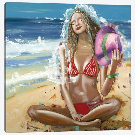 The Sea's Bride Canvas Print #LRV31} by Larisa Lavrova Canvas Print