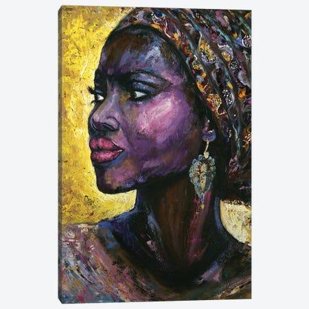 Violet Arabica Canvas Print #LRV33} by Larisa Lavrova Art Print