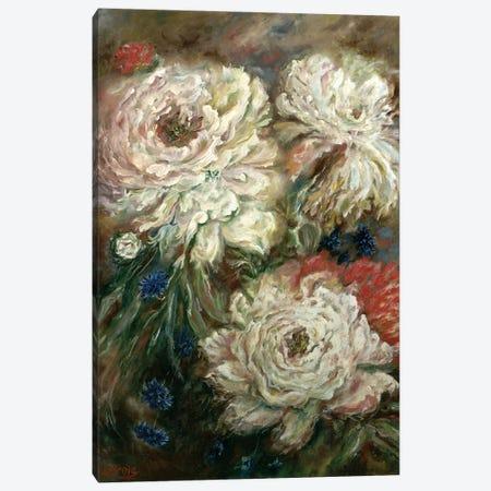 Peonies Canvas Print #LRV38} by Larisa Lavrova Canvas Art Print