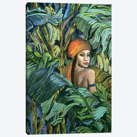 Tropical Lips Canvas Print #LRV39} by Larisa Lavrova Art Print
