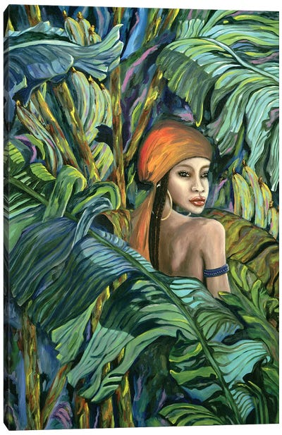 Tropical Lips Canvas Art Print