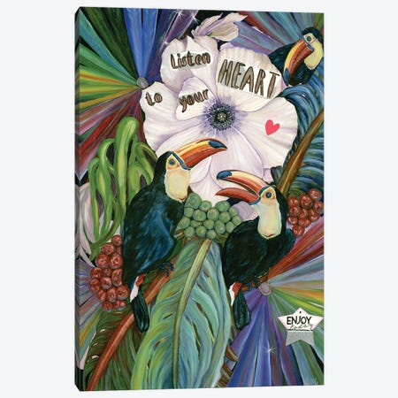 Listen To Your Heart Canvas Print #LRV42} by Larisa Lavrova Canvas Art