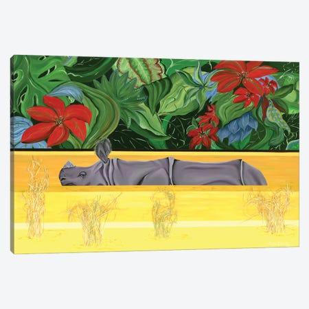 Yellow River Canvas Print #LRV43} by Larisa Lavrova Canvas Wall Art