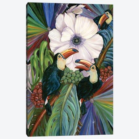 Escape To Paradise Canvas Print #LRV47} by Larisa Lavrova Art Print