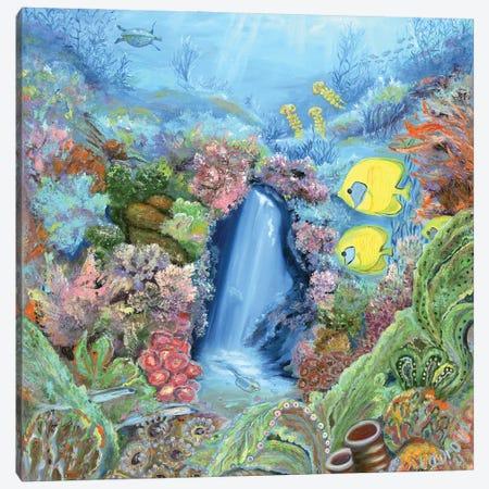 Underwater Meditation Canvas Print #LRV49} by Larisa Lavrova Canvas Art