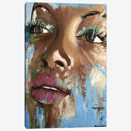 Arabica Girl Canvas Print #LRV7} by Larisa Lavrova Canvas Art Print