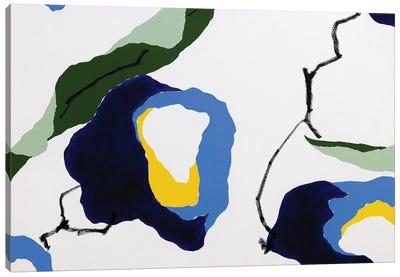 Flores Azules I Canvas Art Print