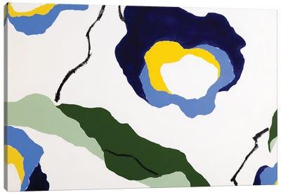 Flores Azules II Canvas Art Print