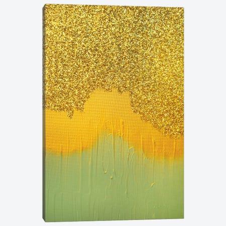 Aqua Gold Shimmer Canvas Print #LRX51} by Amber Lamoreaux Canvas Print