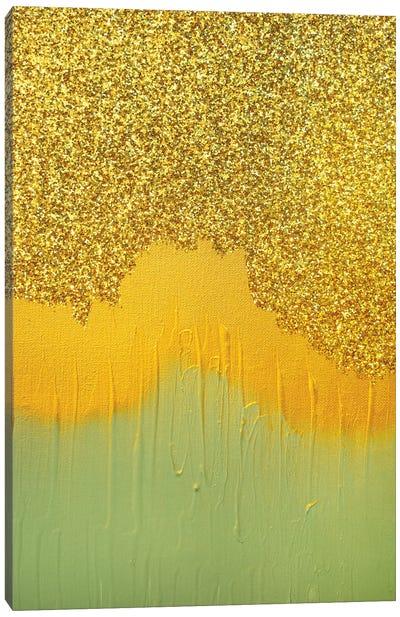 Aqua Gold Shimmer Canvas Art Print