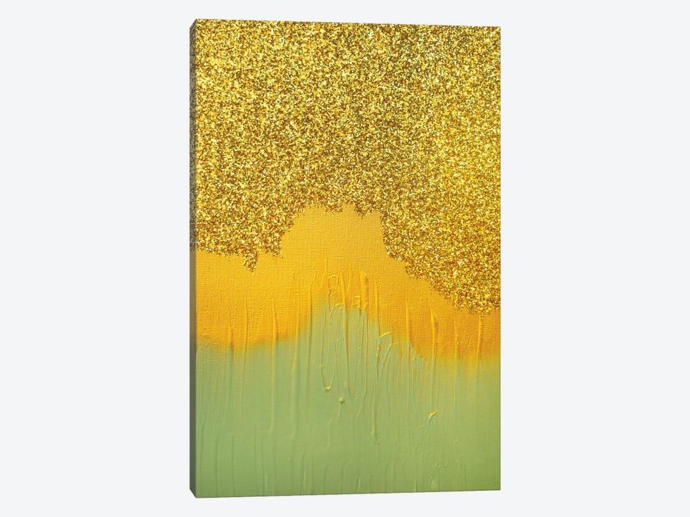 Aqua Gold Shimmer by Amber Lamoreaux 1-piece Canvas Artwork