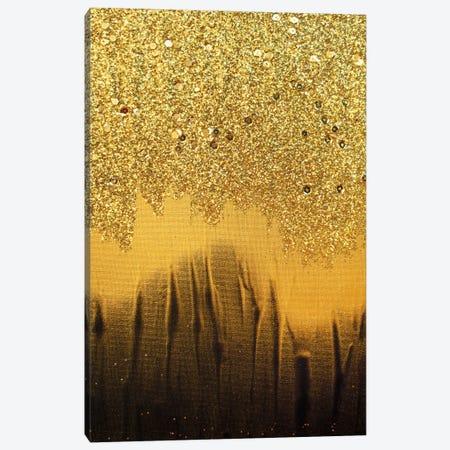 Black Gold Shimmer Canvas Print #LRX53} by Amber Lamoreaux Canvas Print
