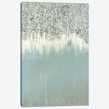 Blue And Silver Shimmer Canvas Print #LRX57} by Amber Lamoreaux Canvas Art