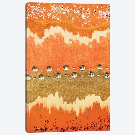 Coral Sparkle Canvas Print #LRX64} by Amber Lamoreaux Art Print