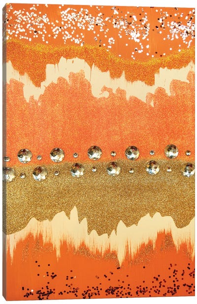 Coral Sparkle Canvas Art Print