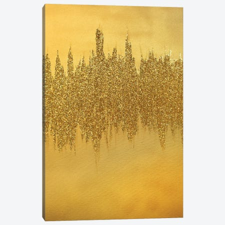 Gold Shimmer Canvas Print #LRX73} by Amber Lamoreaux Canvas Print