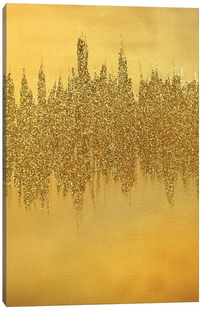 Gold Shimmer Canvas Art Print
