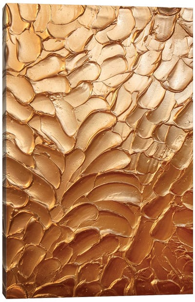 Metallic Copper Canvas Art Print