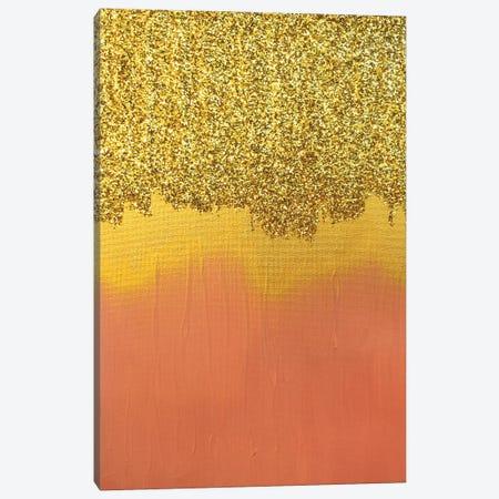 Pink Gold Shimmer Canvas Print #LRX86} by Amber Lamoreaux Canvas Art Print
