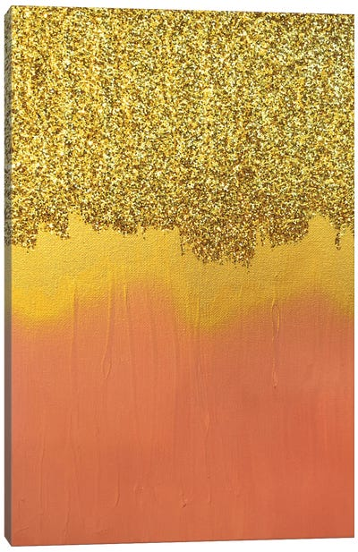 Pink Gold Shimmer Canvas Art Print