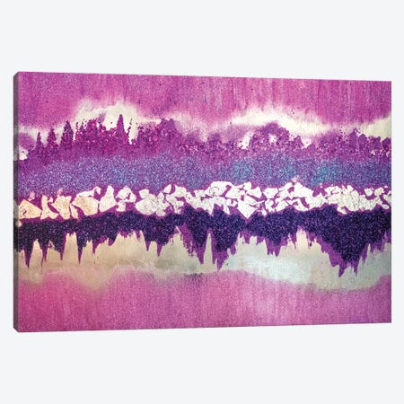 Purple Shimmer Canvas Print #LRX88} by Amber Lamoreaux Canvas Artwork