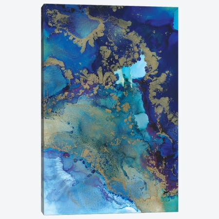 Starlight In Blue Canvas Print #LRX91} by Amber Lamoreaux Canvas Art Print