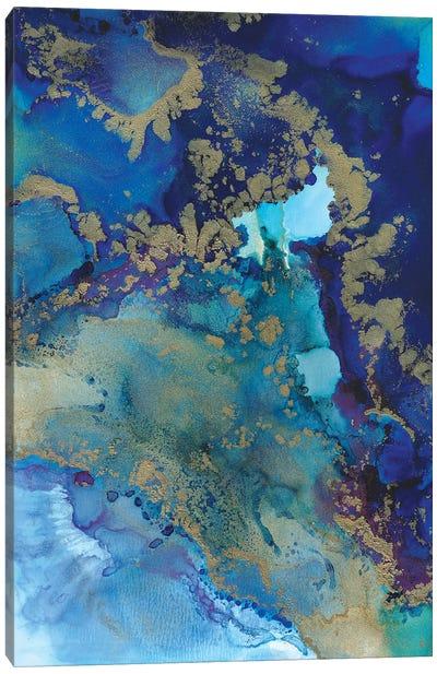 Starlight In Blue Canvas Art Print