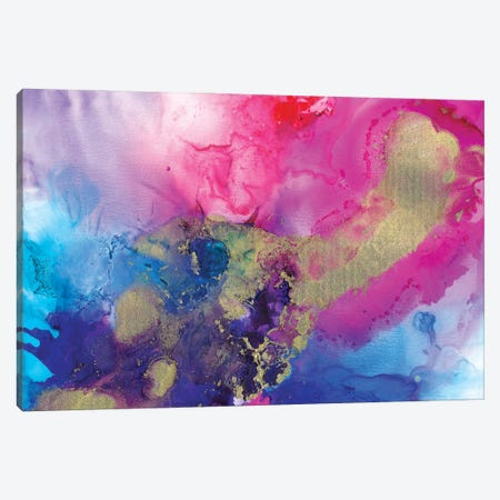The Universe, Etched In Gold Canvas Print #LRX94} by Amber Lamoreaux Canvas Artwork