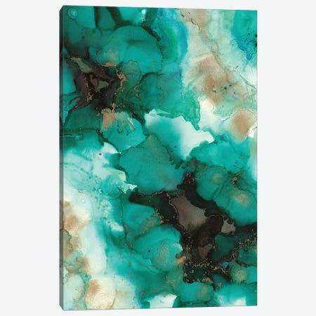 Turquoise Borealis Canvas Print #LRX95} by Amber Lamoreaux Canvas Art