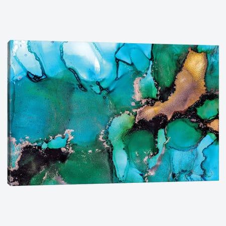 Turquoise Dream Canvas Print #LRX96} by Amber Lamoreaux Canvas Artwork