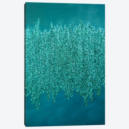 Turquoise Shimmer Canvas Print #LRX97} by Amber Lamoreaux Canvas Artwork