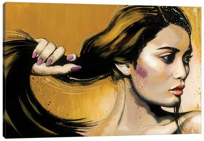 Long Hair Canvas Art Print