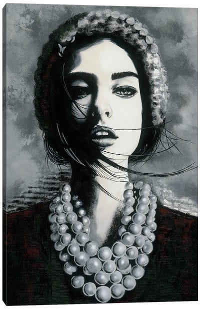 Girl With Necklace Canvas Art Print