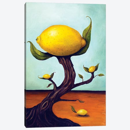 Lemon Tree Surreal Canvas Print #LSA103} by Leah Saulnier Canvas Wall Art