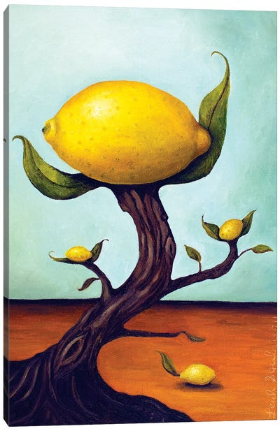 Lemon Tree Surreal Canvas Art Print