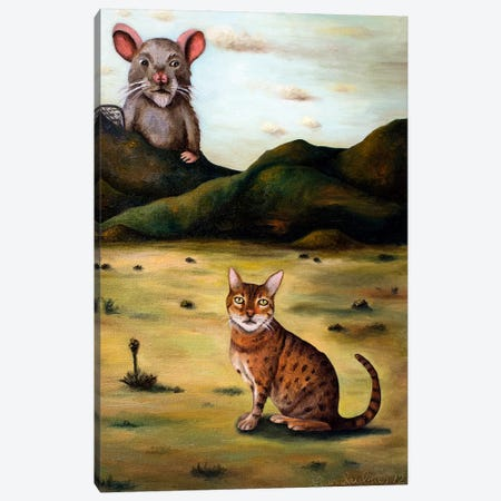 My Cat's Worst Nightmare Canvas Print #LSA126} by Leah Saulnier Canvas Print