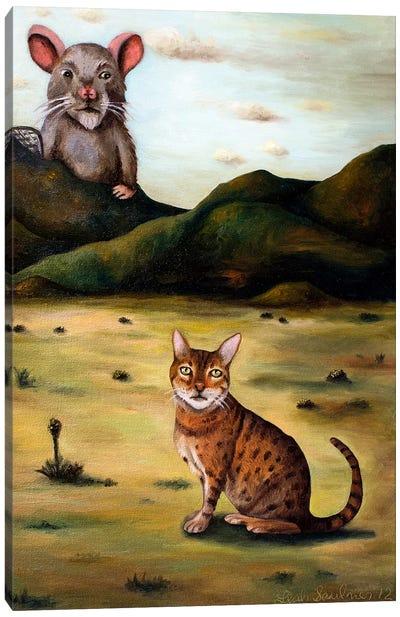 My Cat's Worst Nightmare Canvas Art Print