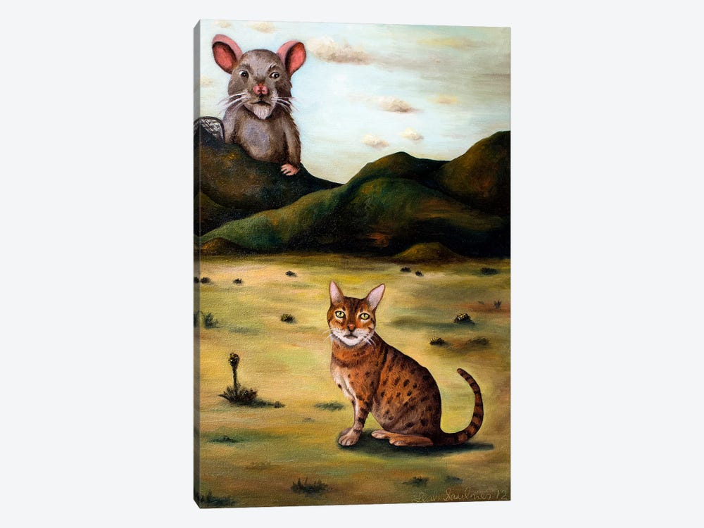 My Cat's Worst Nightmare by Leah Saulnier 1-piece Art Print
