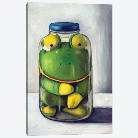 Preserving Childhood Frog Canvas Print #LSA147} by Leah Saulnier Canvas Print
