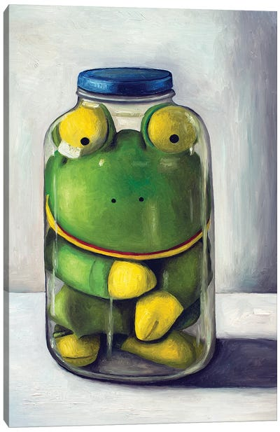 Preserving Childhood Frog Canvas Art Print